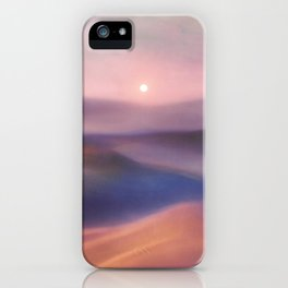 Minimal abstract landscape II iPhone Case