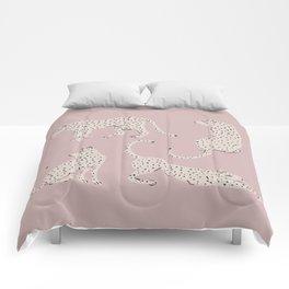 LEOPARD BLOCK PARTY - PINK Comforters