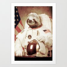 Sloth Astronaut Art Print