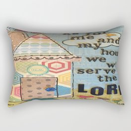 My House Will Serve The Lord Rectangular Pillow