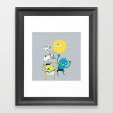 It's a nice day to play! Framed Art Print