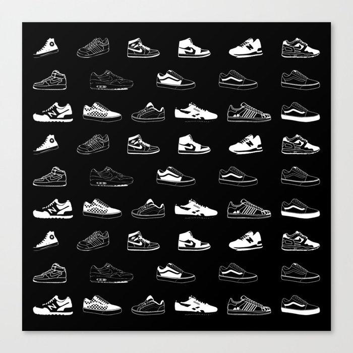 Black Sneaker Leinwanddruck
