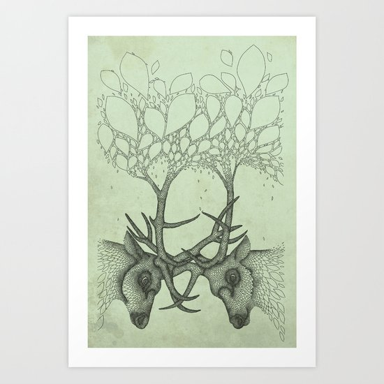 Into the Spring Art Print