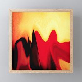 eternal burning flame of life Framed Mini Art Print