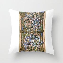 Illuminated manuscript Throw Pillow