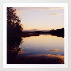 Irish Lake Art Print