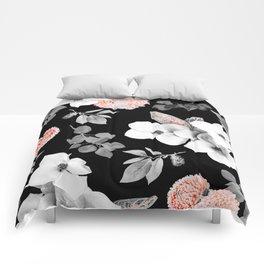 Night bloom - moonlit flame Comforters