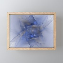 Folds in Blue N Gold Framed Mini Art Print