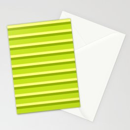 Lime Green Stripes Stationery Cards