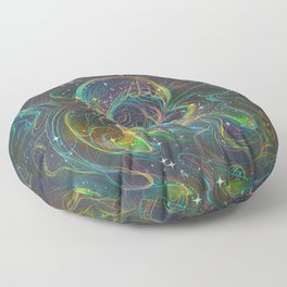 Magical Lisa Frank-esque Mushroom Floor Pillow