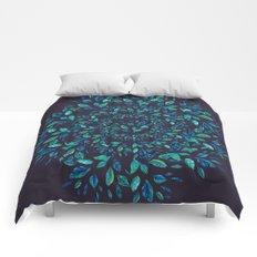 Blue Leaves Mandala Comforters