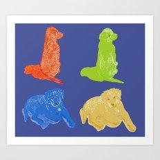 Warhol Dogs Art Print