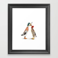 Runner Ducks Framed Art Print