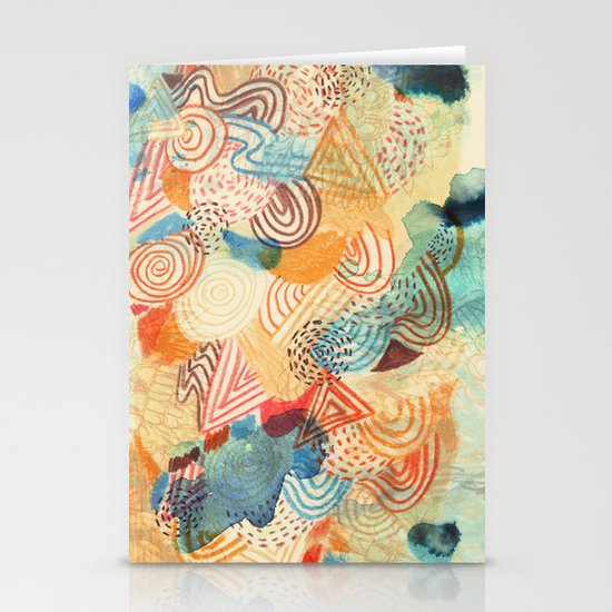 I dream in colors Stationery Cards