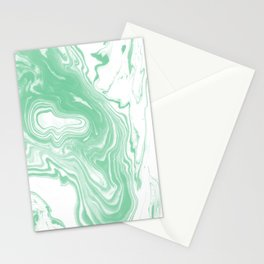 Shinzi - spilled ink japanese marble paper ocean watercolor swirl marbling marbled pattern Stationery Cards
