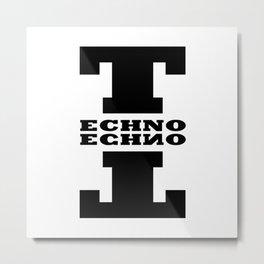 Techno Anagram Metal Print