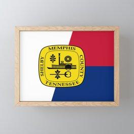 Flag of memphis Framed Mini Art Print