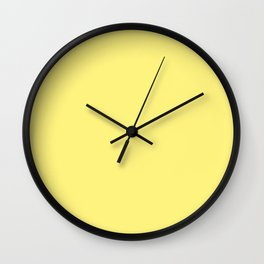 Solid Pale Corn Yellow Color Wall Clock