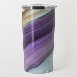 Purple Agate Slice Travel Mug