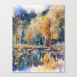 The Pond's Reflections Canvas Print