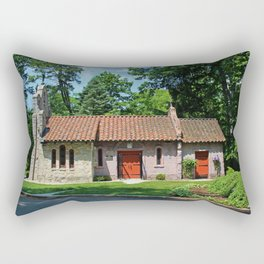 Lourdes University-  Portiuncula  Chapel in the Spring V Rectangular Pillow
