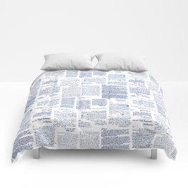 George Washington's Letters // Blue Ink Comforters