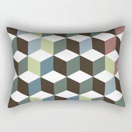 cubes pattern Rectangular Pillow