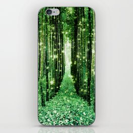 Magical Forest Green Elegance iPhone Skin