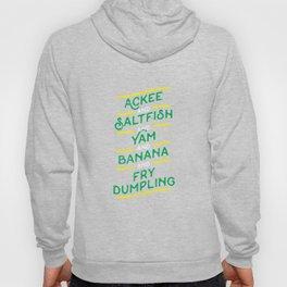 Ackee & Saltfish & Fry Dumpling Jamaican Dish TShirt Hoody