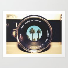 focus on palms Art Print