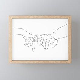 Pinky Swear Framed Mini Art Print