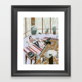 Sisters Room Framed Art Print