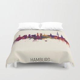 Hamburg Germany Skyline Duvet Cover