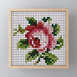 Shabby Chic Rose Framed Mini Art Print