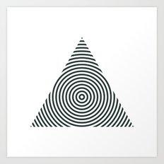 #238 Pyramid – Geometry Daily Art Print