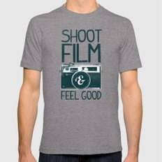 Shoot Film Tri-Grey LARGE Mens Fitted Tee