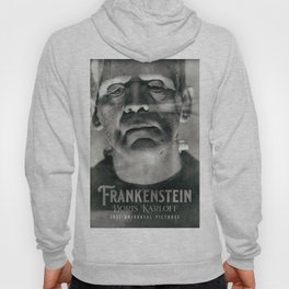 Frankenstein, vintage movie poster, Boris Karloff, horror film, Mary Shelley book cover Hoody