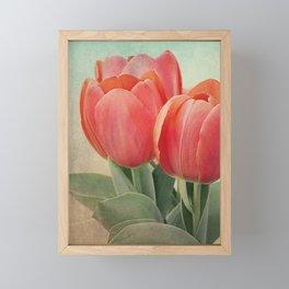 Vintage tulips 4 Framed Mini Art Print