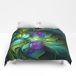 Colorful And Abstract Fractal Fantasy Comforters