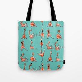 Flamingo Yoga Tote Bag