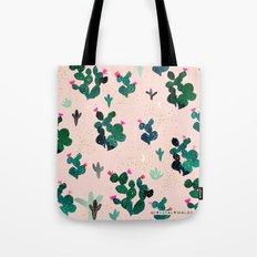 Cactus Desert Pink Dusk Moon Tote Bag