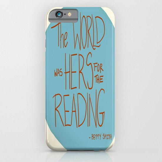 The World was Hers for the Reading iPhone & iPod Case