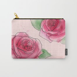 Rose Watercolor Carry-All Pouch