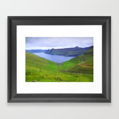 faroe islands Framed Art Print