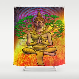 Psychedelic Buddha Shower Curtain