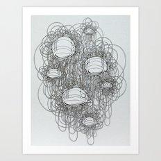 New Line Drawing Art Print