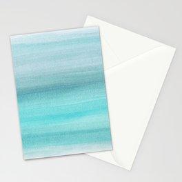 Aqua Blue Watercolor Dream #1 #painting #decor #art #society6 Stationery Cards