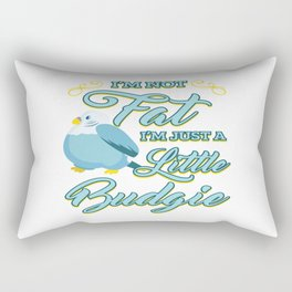 Funny Budgerigar Budgie Pet Bird Lover Nerdy Gift Rectangular Pillow