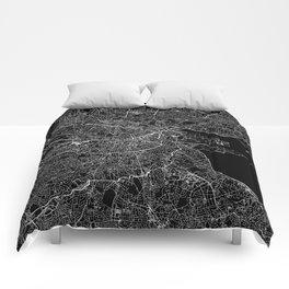Dublin Black Map Comforters