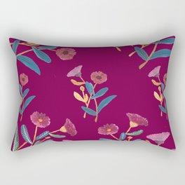 botanical poppy illustration Rectangular Pillow